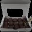 Handmade chocolate enrobed caramels